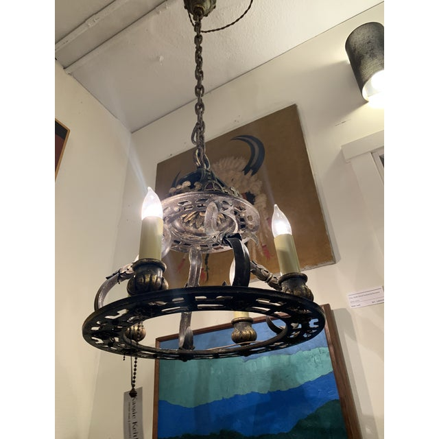 Stunning antique chandelier wall mount original hardware perfect for a traditional home.