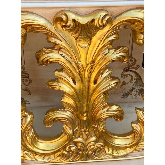 New Italian Rococo/Baroque Style Table in Gold and Brown With Wooden Top For Sale - Image 11 of 13