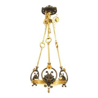 English Regency Bronze Pendant Chandelier For Sale