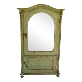 Painted Pine Vitrine or Glazed Cupboard For Sale