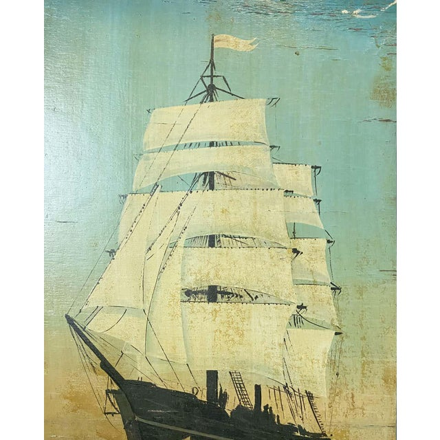 """Vintage English Pub Sign, """"The Ship"""" For Sale - Image 10 of 13"""