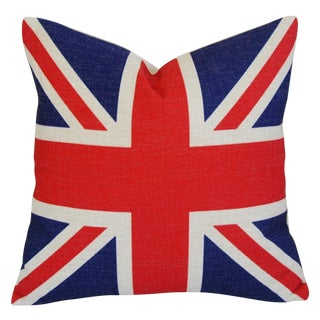 British Union Jack Linen Down/Feather Pillow