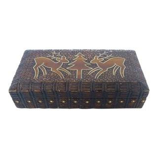 Handmade Wood & Metal Box For Sale