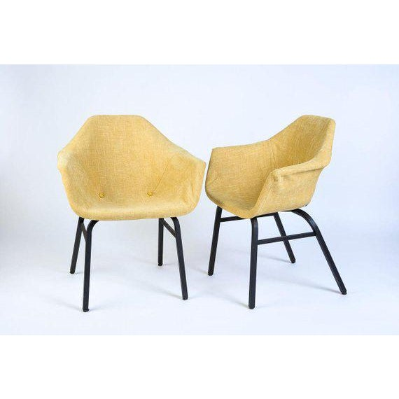 Metal Mid-Century Modern Eames Chairs - a Matched Pair For Sale - Image 7 of 7