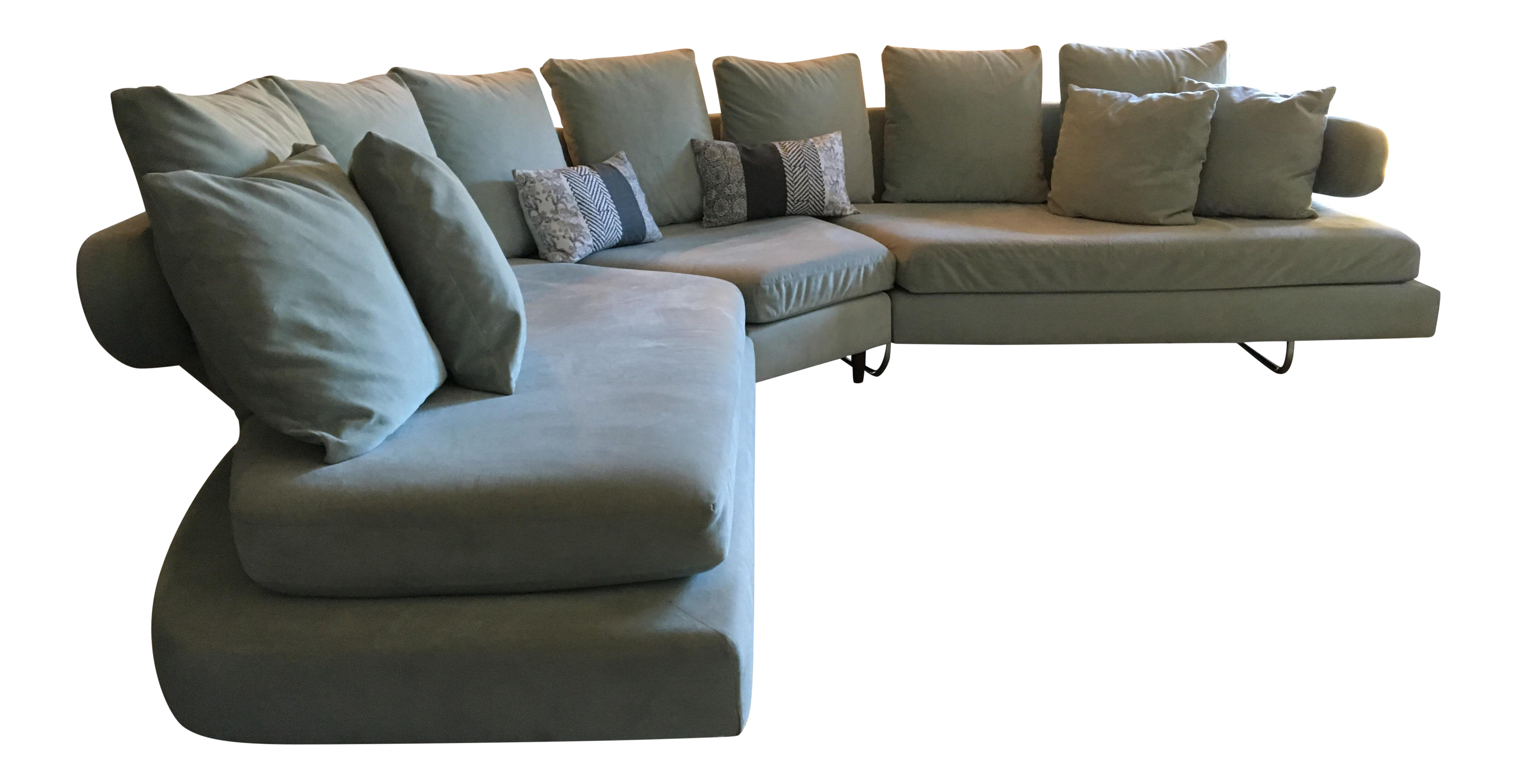 Vintage Mid Century Modern Curved Sectional Couch B&b Italia Style ...