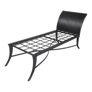 Modern Mid Century Klismos Style Patio Chaise For Sale