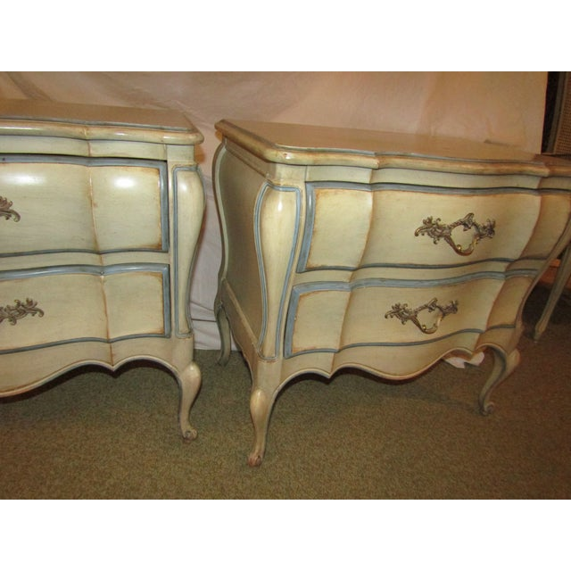 Dixon Bombe Nightstands - A Pair For Sale - Image 5 of 6