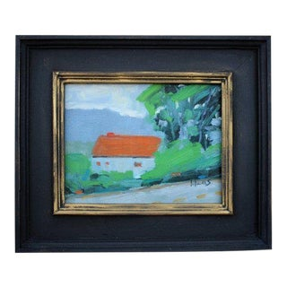 """""""House at Tiburon"""" Plein Air Oil Painting For Sale"""