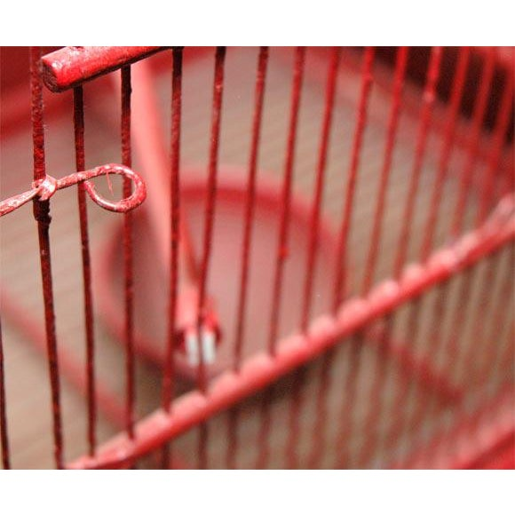 1930s Large Wire & Wood Birdcage For Sale - Image 5 of 9