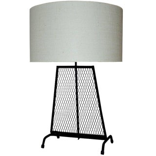 Mid-Century Modern Wrought Iron Lamp For Sale