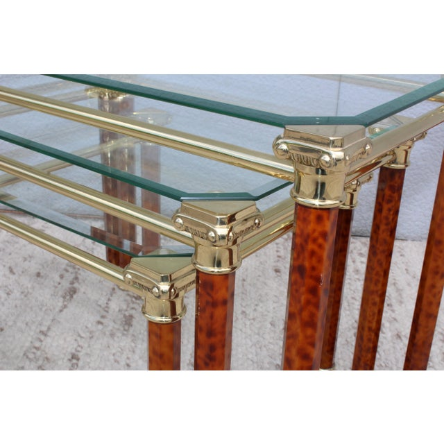 Metal 1980s Italian Brass Nesting Tables For Sale - Image 7 of 11