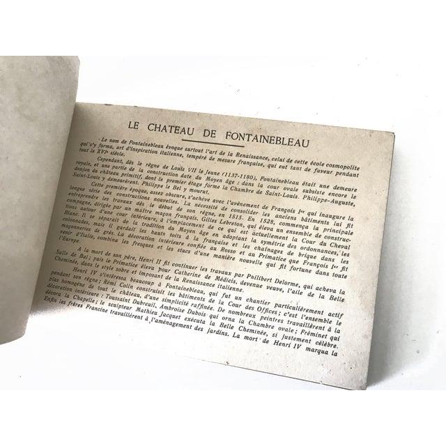 French Chateau De Fontainbleau Souvenir Postcard Book For Sale In San Francisco - Image 6 of 11