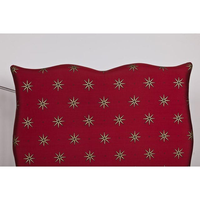 Headboard upholstered in Celia Birtwell's Tara in silk. Hand silkscreened with gold. 2 available - sold individually