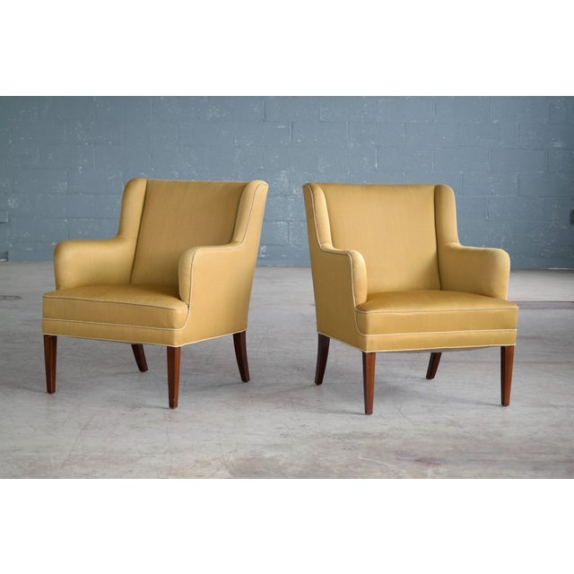 Frits Henningsen Pair of Lounge Chairs Denmark, Circa 1950 For Sale - Image 13 of 13
