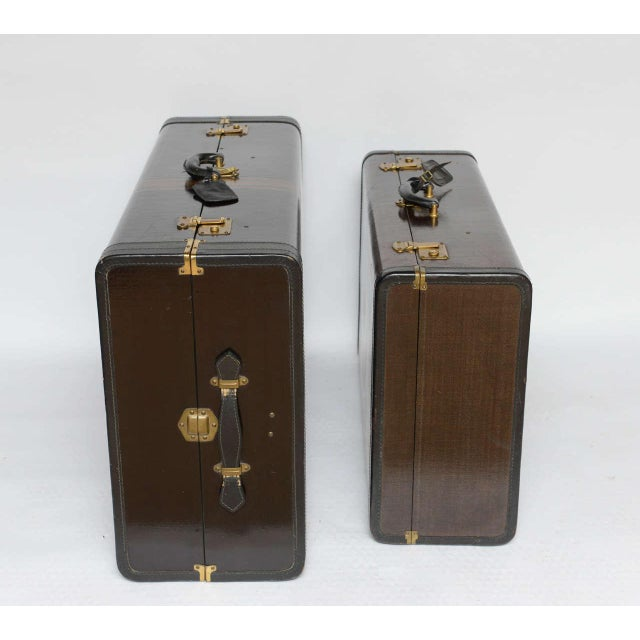 Gorgeous Pair of Vintage Italian Suitcases For Sale - Image 4 of 13