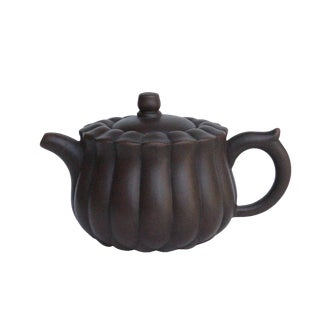 Chinese Handmade Yixing Zisha Clay Teapot With Artistic Accent For Sale