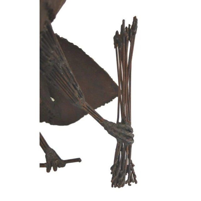 Late 20th Century Symbolic American Bald Eagle Pieced Steel Sculpture For Sale - Image 4 of 7