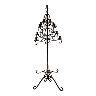 Vintage Wrought Iron Candelabra For Sale