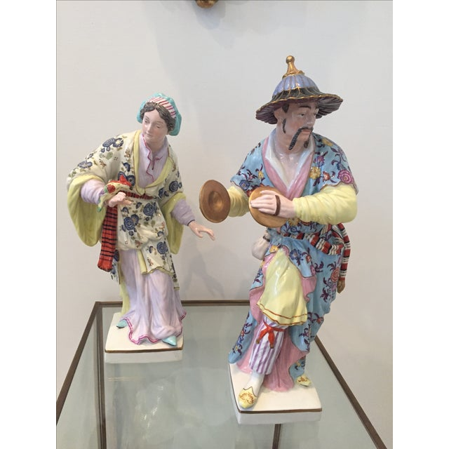 Chinoiserie Figurines by Chelsea House - Pair - Image 3 of 10