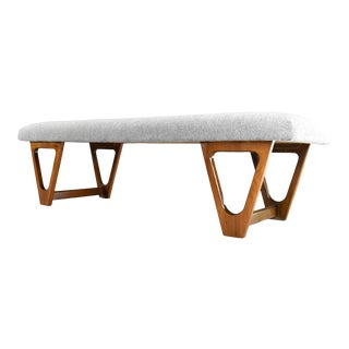 Mid-Century Modern Upholstered Bench For Sale