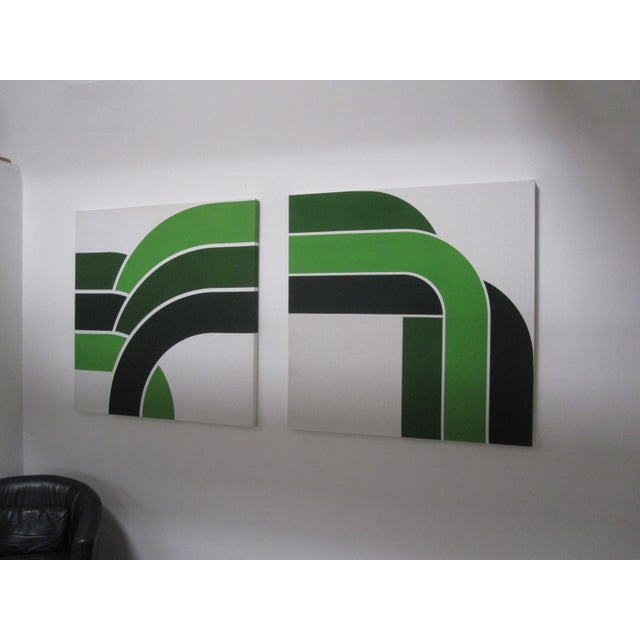 1970s Vintage Green Graphic Prints - Image 4 of 6