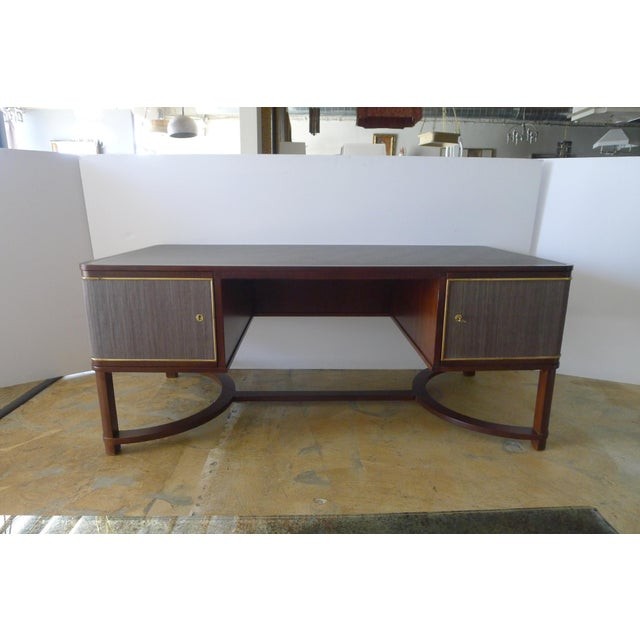 Restored Expansive Modern French Art Deco Executive Desk - Image 13 of 13