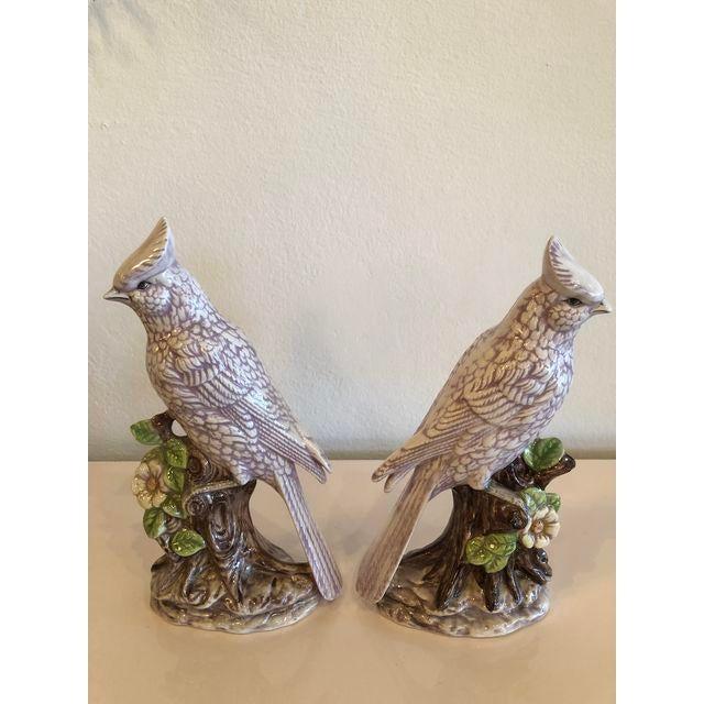 Italian Ceramic Palm Beach Cockatoo Birds - a Pair For Sale - Image 10 of 11