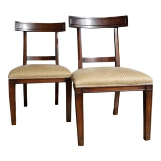 Walnut Holland & Co. MacRae Side Chairs - A Pair