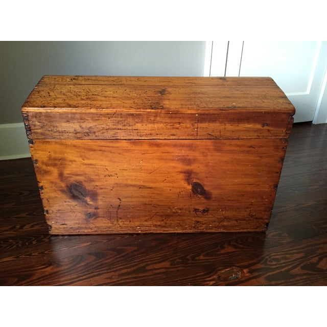 19th-C. Peaked Top Pine Trunk - Image 3 of 6