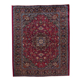 "Vintage Persian Kashan Rug, 8'5"" X 10'6"" For Sale"