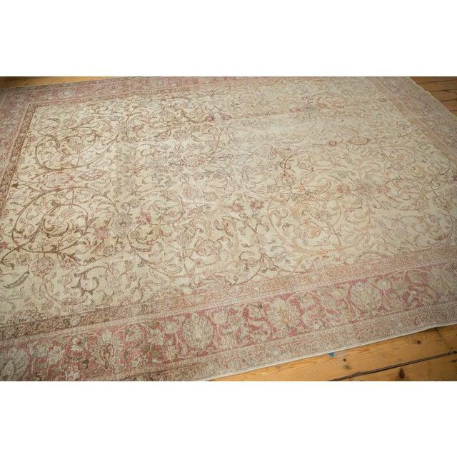 "Vintage Distressed Sivas Carpet - 8' x 10'10"" For Sale - Image 5 of 11"