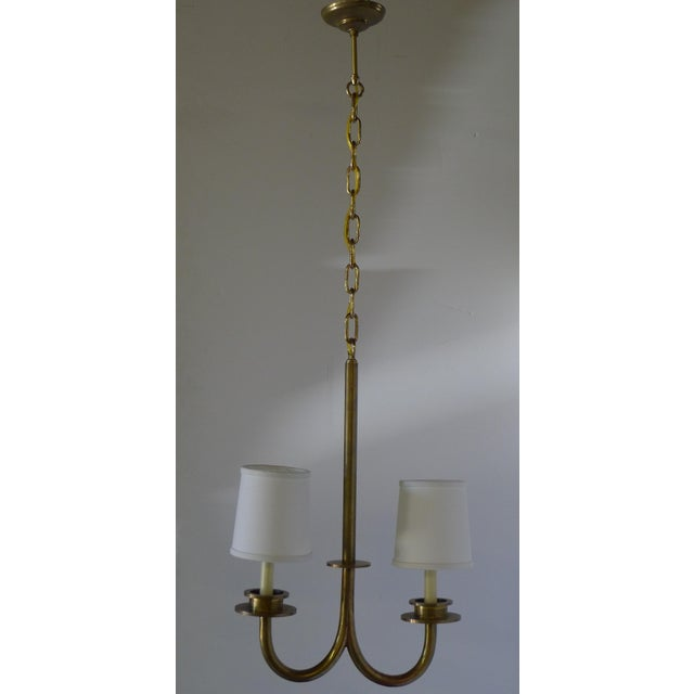 Mid-Century Modern Mid 20th Century Asymmetrical Two-Light Pendant For Sale - Image 3 of 8