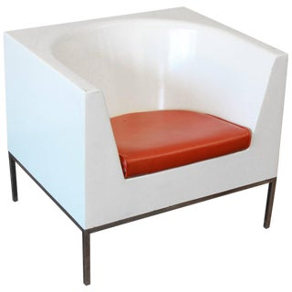 Massimo Vignelli Style Plastic Cube Lounge Chairs, 1970s For Sale