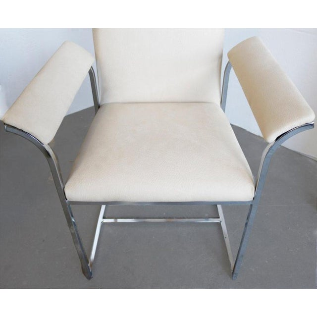1970s A Pair of Chairs by Milo Baughman for Thayer Coggin For Sale - Image 5 of 7