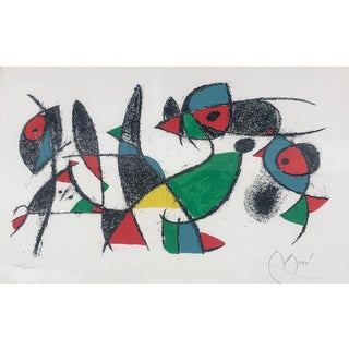 Rare Mid Century Modern Lithograph by Joan Miro C. 1975 Lithographs II - Plate 10 For Sale