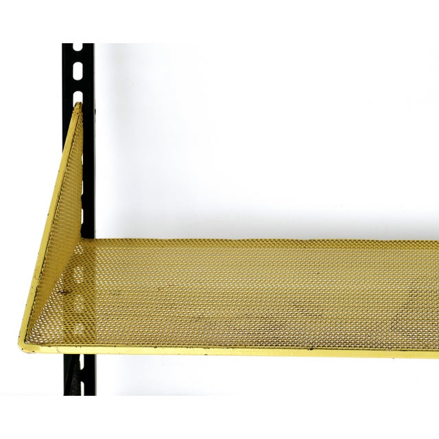 Mid-Century Modern 1950s Mathieu Mategot Wall Shelf With Adjustable Shelves For Sale - Image 3 of 8