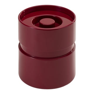 Rita Konig Collection Ice Bucket in Bordeaux Red For Sale