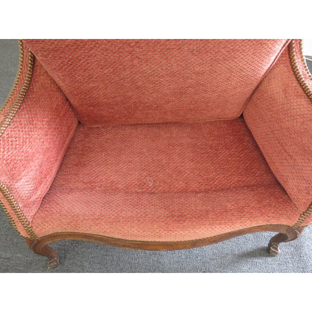 Louis XV Style Wing Chair For Sale - Image 4 of 10