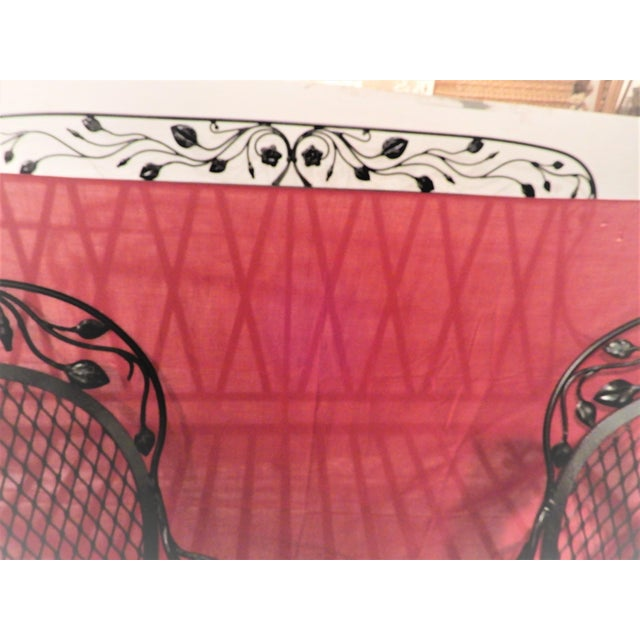 Black Salterini Vintage Patio Set Rare Rose Leaf Pattern For Sale - Image 8 of 12