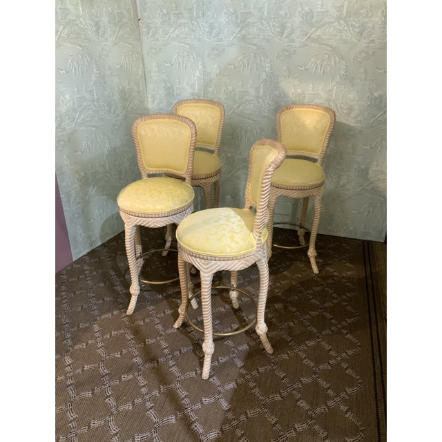 American Twist Frame Barstools-Set of 4 For Sale - Image 3 of 4