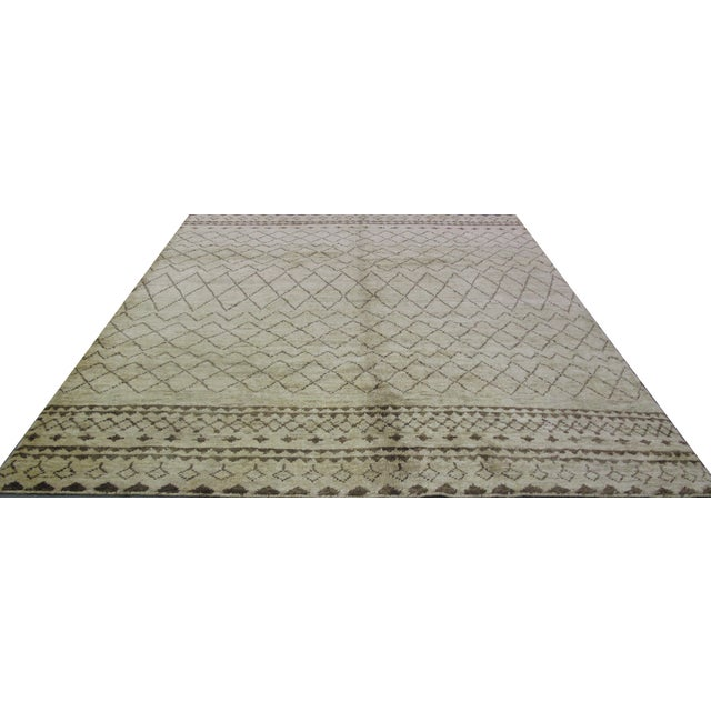 Natural Hemp Indian Rug - 8′2″ × 10′ For Sale