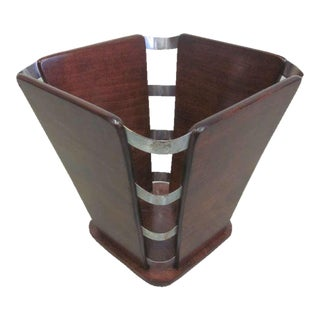 French Art Deco Waste Basket in the Manner of Jacques-Émile Ruhlmann