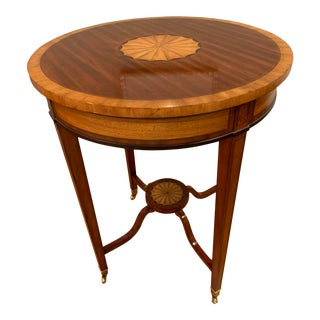 Maitland-Smith Round Inlay Accent Table For Sale