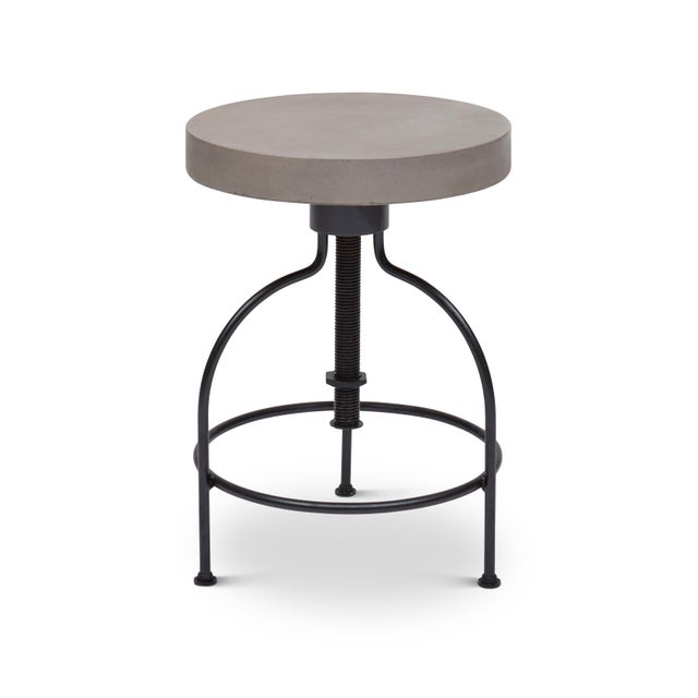 Screwy Stool in Dark Gray For Sale - Image 4 of 8