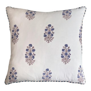Block Print Boho Pillow For Sale