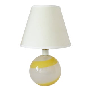 Italian Glass Accent Lamp For Sale