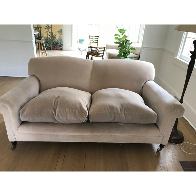 """George Smith """"Full Scroll Arm Signature Sofas"""" - A Pair For Sale In Philadelphia - Image 6 of 9"""