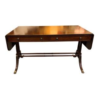 19th Century English Regency Mahogany Drop Leaf Table For Sale