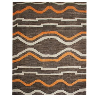 """Aara Rugs Inc. Hand Knotted Navajo Style Rug - 9'10"""" X 13'0"""" For Sale"""