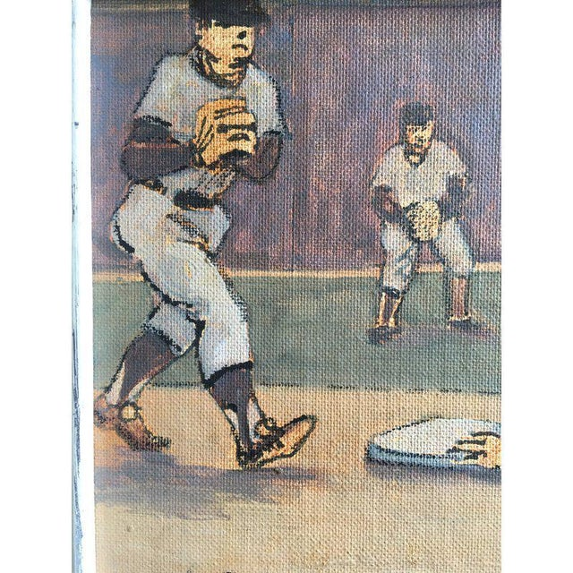 Canvas Arthur Smith Baseball Watercolors From 'Baseball' Series - A Pair For Sale - Image 7 of 11